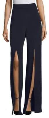 Cushnie Silk Front Slit Pants