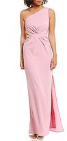 Laundry by Shelli Segal One-Shoulder Cut-Out Beaded Gown