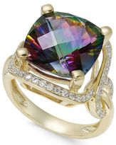 Macy's Mystic Quartz (6-1/6 ct. t.w.) and Diamond (3/8 ct. t.w.) Statement Ring in 14k Gold
