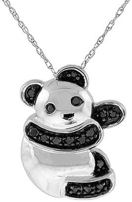 Black Diamond Suzy Levian Diamonds Suzy Levian 14K Panda Necklace