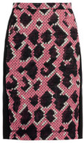 Jacquard snake pencil skirt
