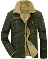 Kedera 2018 Men's Winter Wool Blend Warm Thicken Jacket Stand Collar Coat Outerwear