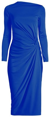 Donna Karan Side Ruched Jersey Dress