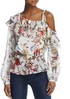 Aqua Ruffled Floral One-Shoulder Top - 100% Exclusive