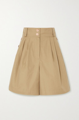 See by Chloe Button-detailed Cotton-twill Shorts - Beige