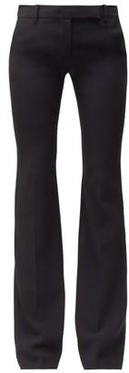 Alexander McQueen Wool-blend Flared Trousers - Black