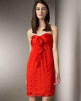 Twelfth Street Ruffled Silk Minidress