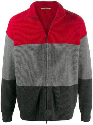 Roberto Collina colour-block zipped cardigan