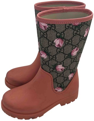 Gucci Pink Rubber Boots
