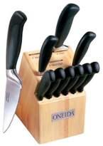 Oneida Soft Handle 12-Piece Serrated Knife Block Set