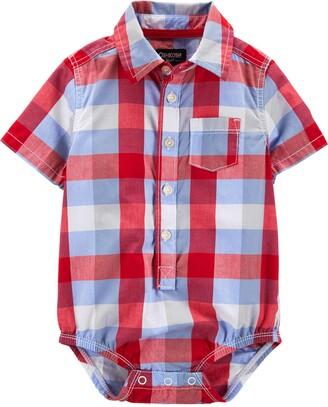 Osh Kosh OshKosh Baby Boys Short Sleeve Woven Bodysuit