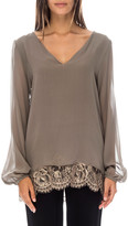Gold Hawk Chantilly Lace Back Top