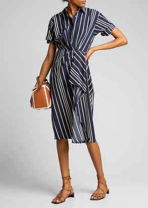 Jason Wu Collection Striped Cotton Twill Day Dress