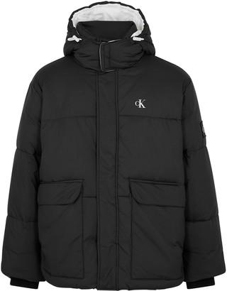 Calvin Klein Jeans Black logo shell jacket