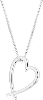 Simply Silver Open Heart Pendant