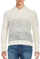 Calvin Klein Textured Ombre Shawl-Collar Sweater