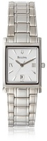 Bulova White Dial Stainless Steel Ladies Watch 96M105