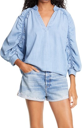 Frame Cali Ruched Top
