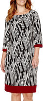 Studio 1 3/4-Sleeve Print Sheath Dress - Plus