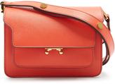 Marni Trunk mini saffiano-leather cross-body bag