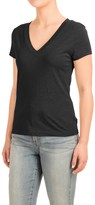 Specially made Knit V-Neck Shirt - Short Sleeve (For Women)