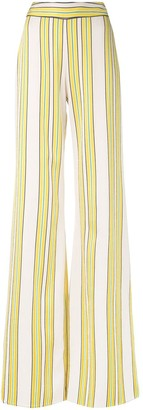 Alexis Tarik striped wide-leg pants