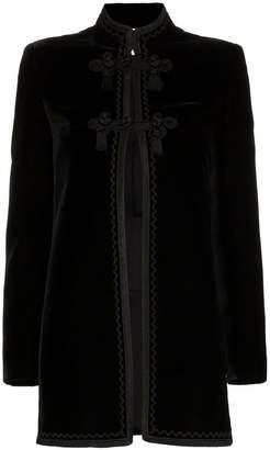 Saint Laurent embroidered long jacket