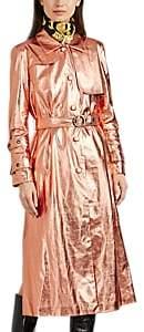 Osman Women's Metallic Faux-Leather Trench Coat - Rose Gold