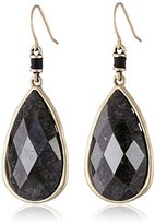 The Sak Charcoal Color Elongated Faceted Drop Earrings