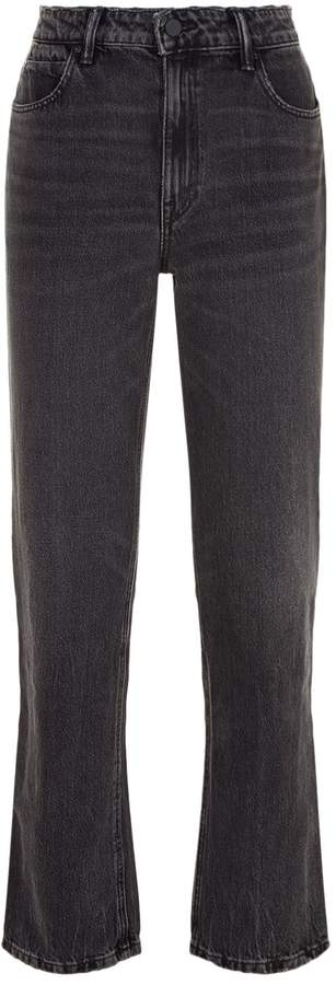 Alexander Wang Cropped Straight-Leg Jeans