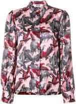 MSGM bird print shirt