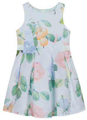 Baker by Ted Baker - 'Girls' Pale Green Floral Print Dress