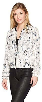Olive + Oak Olive & Oak Women's Liana Watercolor Bomber Jacket