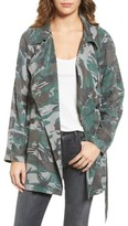 Pam & Gela Women's Camo Trench Coat