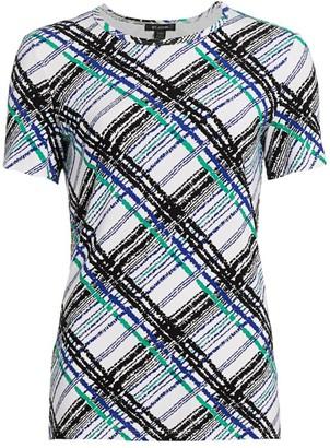 St. John Check Jersey T-Shirt
