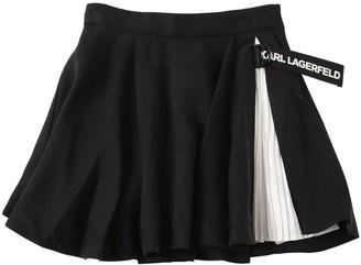 Karl Lagerfeld Paris Pleated Lyocell Skirt