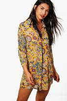 boohoo Lucinda Floral Shirt Dress