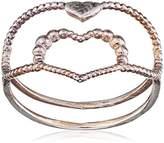 Assya Silver Heart Ring-Size K