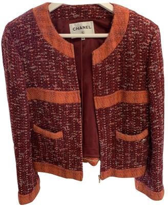 Chanel Orange Wool Jacket for Women
