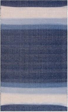 Imagine Home Triton Striped Handmade Flatweave Wool Blue Area Rug Rug Size: Rectangle 5' x 8'