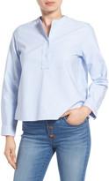 Madewell Collarless Poplin Shirt