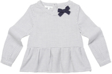 Marie Chantal GirlsNavy Check Bow Blouse