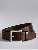 Autograph Coated Leather Notched Belt