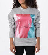 adidas Women's Stella McCartney Stellasport Metallic Crew Sweatshirt
