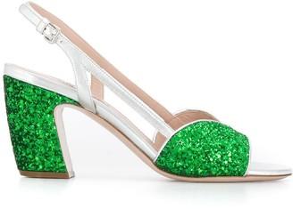Miu Miu Sandals With Glitter Details