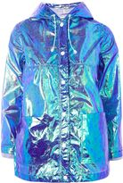 Topshop PETITE Paper Metallic Raincoat