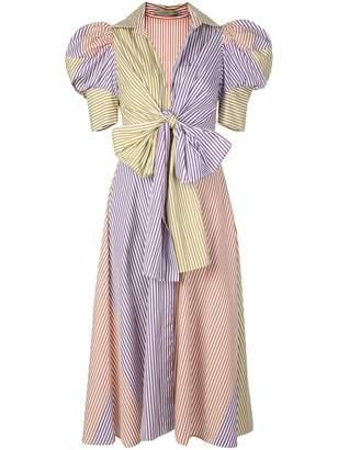 Silvia Tcherassi Colourblock Stripes shirt dress