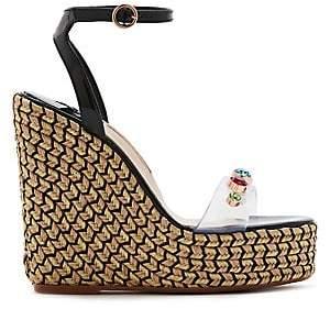 58dc9fc9e0f9 Sophia Webster Women s Denim Gem Espadrille Platform Wedge Sandals