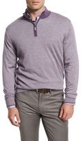 Peter Millar Textured Quarter-Zip Pullover Sweater, Viola