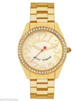 Betsey Johnson Women's BJ00190-08 Crystal Accented Gold Plated Quartz Watch